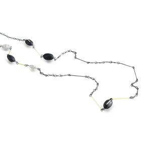 black-silver-gold-long-necklace