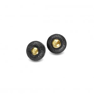 textured-earrings-black