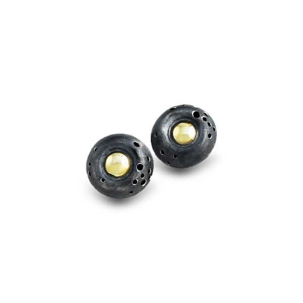 black-and-gold-stud-earrings-round