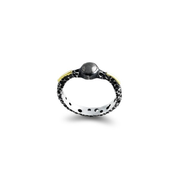 pyrite-gold-silver-ring