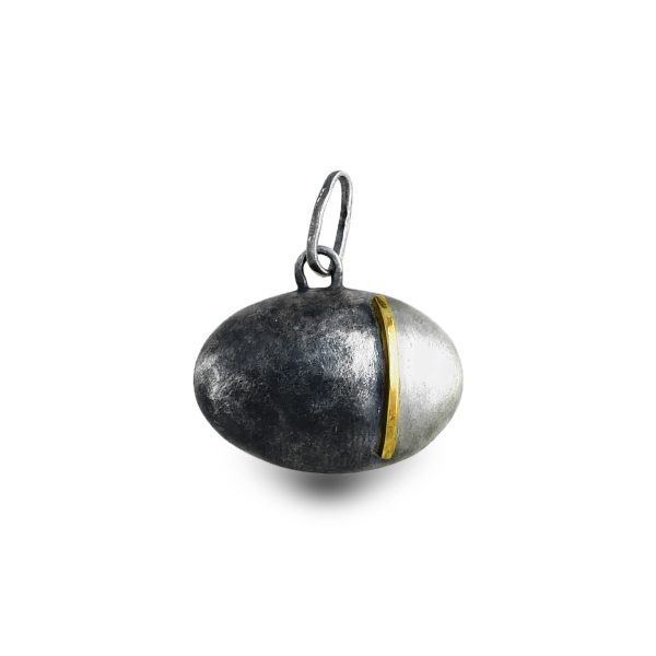 black-silver-gold-pendant