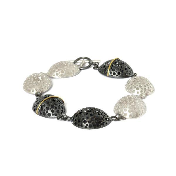 black-silver-gold-bracelet