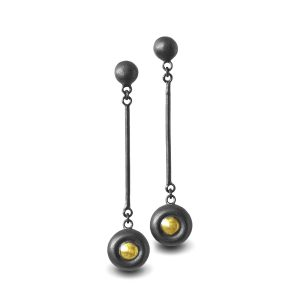 rounded-black-and-gold-earrings
